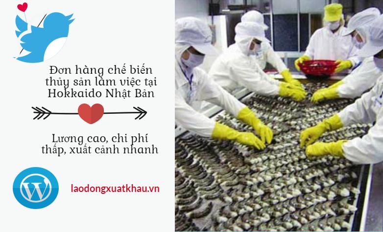 Đơn hàng đi làm việc tại Hokkaido - ngành chế biến thủy sản - lương hấp dẫn