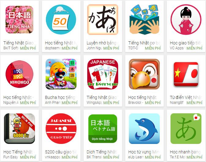 Top 3 ứng dụng học tiếng Nhật hay nhất trên điện thoại