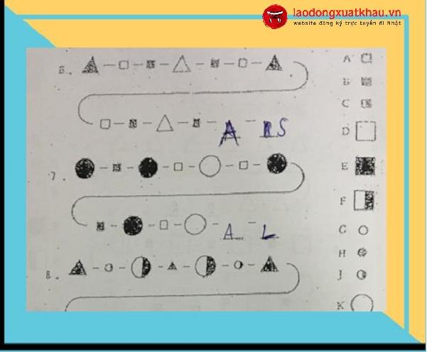 Hướng dẫn làm bài test của công ty Nhật - test IQ kiến thức và test tay nghề
