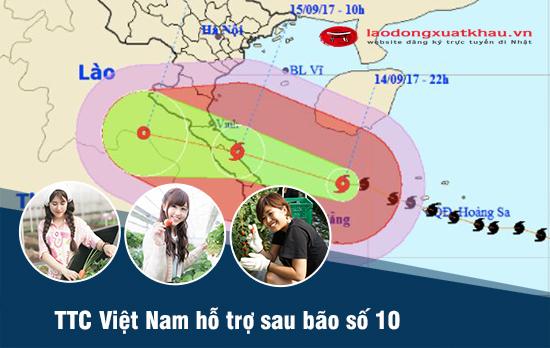 TTC Việt Nam hỗ trợ đặc biệt lao động miền Trung đi Xuất khẩu lao động Nhật Bản sau bão số 10