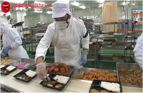 Đơn hàng nam/nữ chế biến thực phẩm 1 năm làm việc tại Nhật Bản