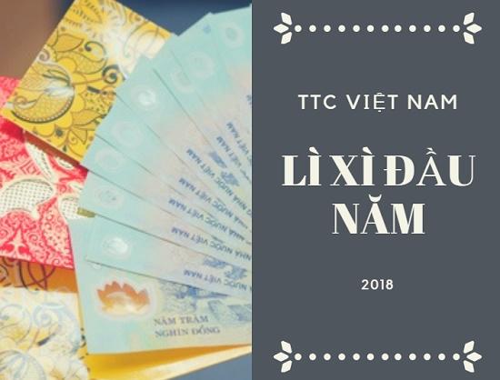 Vui khai xuân - nhận lì xì tại TTC Việt Nam