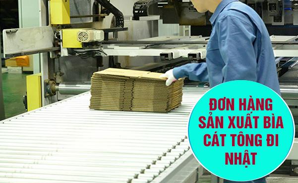 Tuyển nữ đơn hàng sản xuất hộp cát tông đi xuất khẩu lao động Nhật Bản lương cao, xuất cảnh nhanh