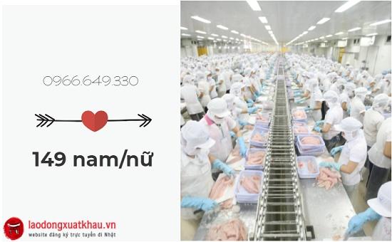 Siêu khủng: Tuyển 149 nam/nữ làm chế biến thủy sản tại Nhật Bản
