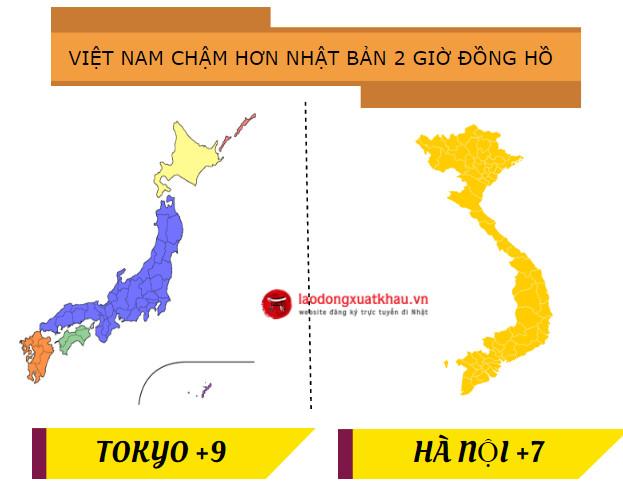 Múi giờ chuẩn Nhật Bản hiện tại là bao nhiêu? Chênh lệch giờ Nhật Bản với Việt Nam ?