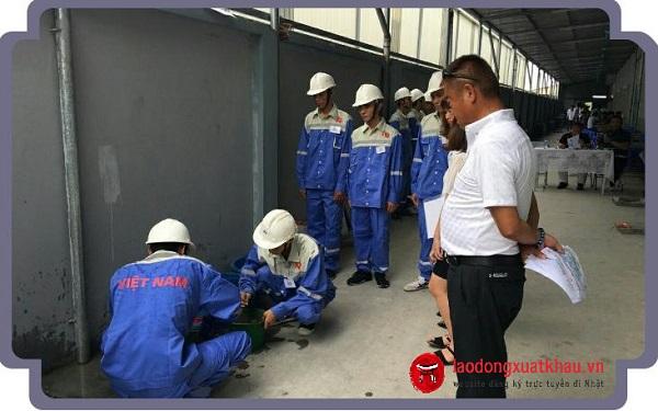 Thi tuyển đơn hàng xây dựng XKLĐ Nhật Bản khó không?