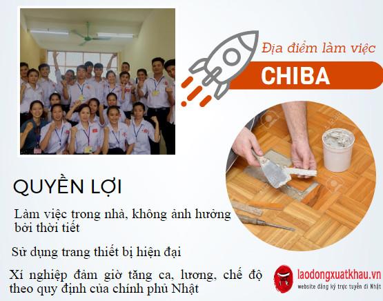 Đơn hàng HOT- Tuyển gấp 12 Nam đơn hàng gia công nội thất tại Chiba Nhật Bản xuất cảnh nhanh
