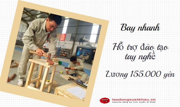 Đơn hàng 1 năm cho nam- Tuyển 15 lao động Nam đi XKLĐ Nhật đơn hàng chế tác gỗ lương cao, bay nhanh