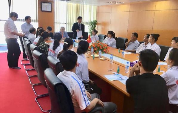 Gặp gỡ giữa gia đình Thực tập sinh kỹ năng TTC Việt Nam với xí nghiệp Nhật Bản sau khi trúng tuyển