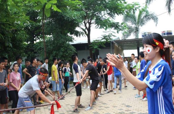 Hội thao tại Trung tâm đào tạo thực tập sinh
