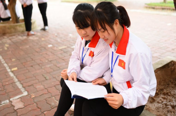 Giờ học tiếng Nhật tại trung tâm đào tạo thực tập sinh