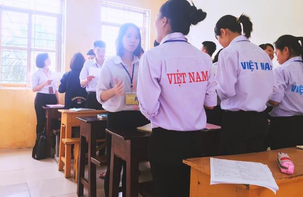 Thực hành tiếng Nhật sử dụng trong Konbini của thực tập sinh TTC Việt Nam