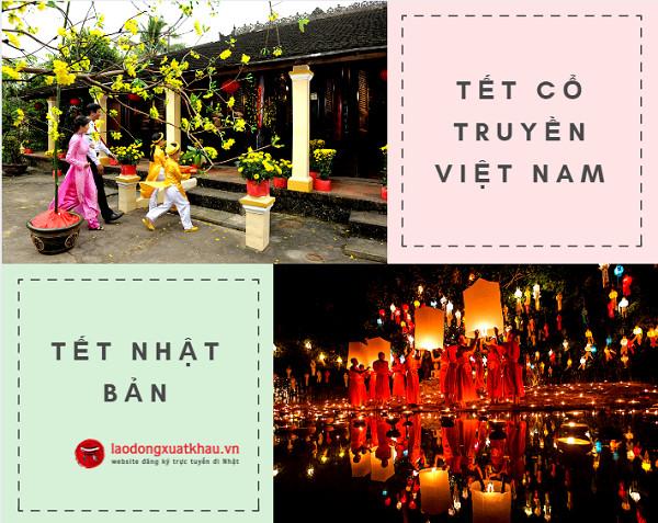 Những khác biệt giữa tết nguyên đán Việt Nam và tết Nhật Bản
