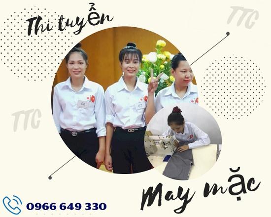 Thi tuyển đơn hàng may mặc lương khủng tại TTC Việt Nam