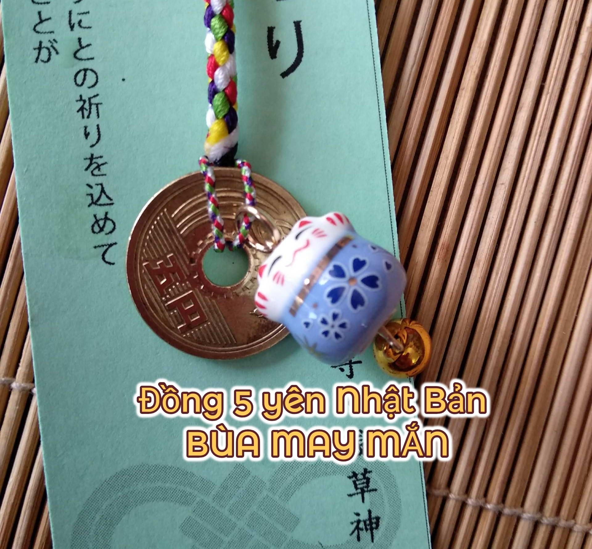 Đồng 5 yên Nhật Bản BÙA MAY MẮN của thực tập sinh