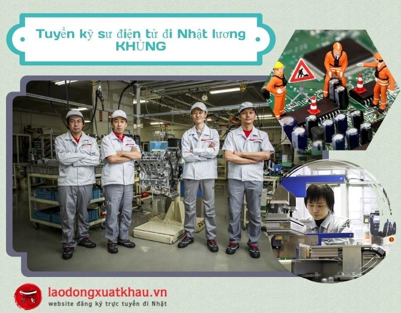 Tuyển 25 kỹ sư điện tử đi Nhật thu nhập KHỦNG
