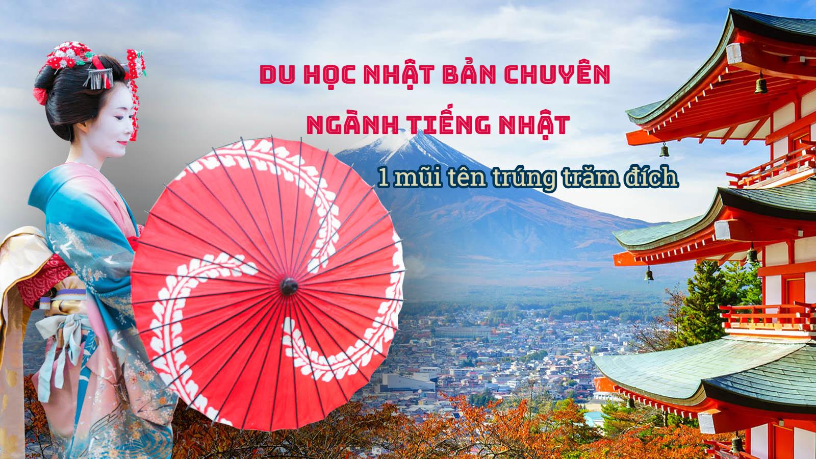Du học Nhật Bản chuyên ngành tiếng Nhật: 1 mũi tên trúng trăm đích