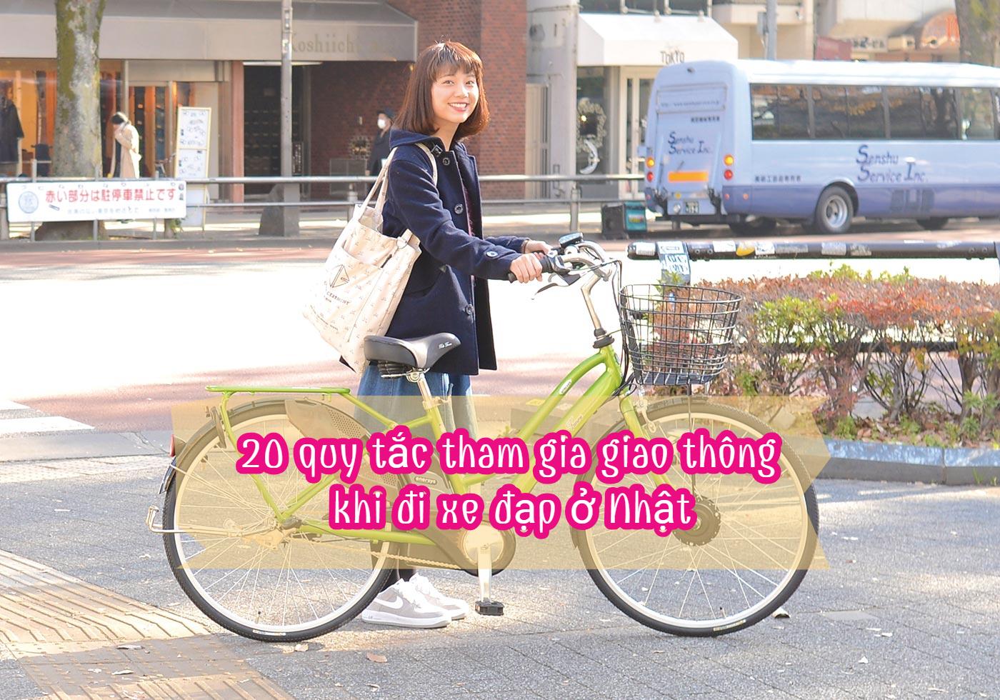 20 quy tắc tham gia giao thông khi đi xe đạp ở Nhật
