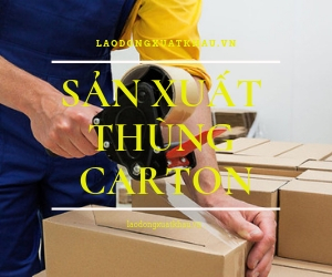 Tuyển gấp đơn hàng Sản Xuất Thùng Carton tại Osaka