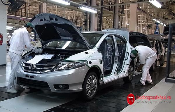 Đơn Hot- tuyển 24 Nam đơn hàng linh kiện ô tô Nhật Bản: Lương cao, chế độ tốt
