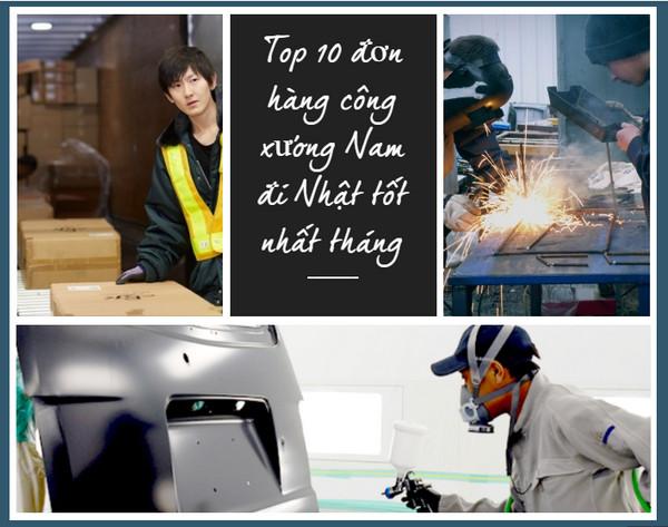 Top 10 đơn hàng công xưởng Nam đi Nhật tốt nhất tháng 05/2019
