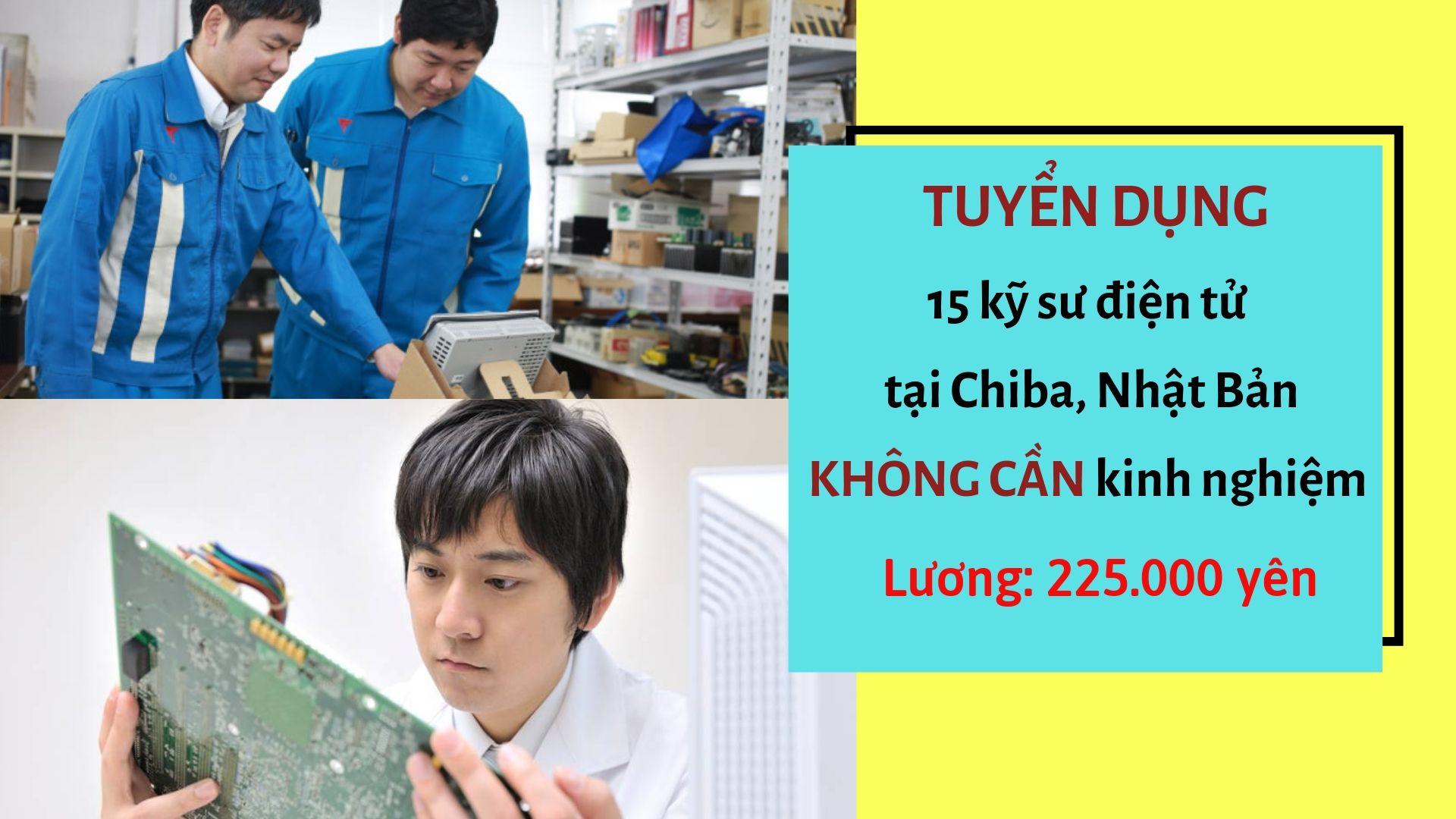 Đơn hàng kỹ sư điện tử Nhật Bản KHÔNG CẦN kinh nghiệm làm việc tại Chiba