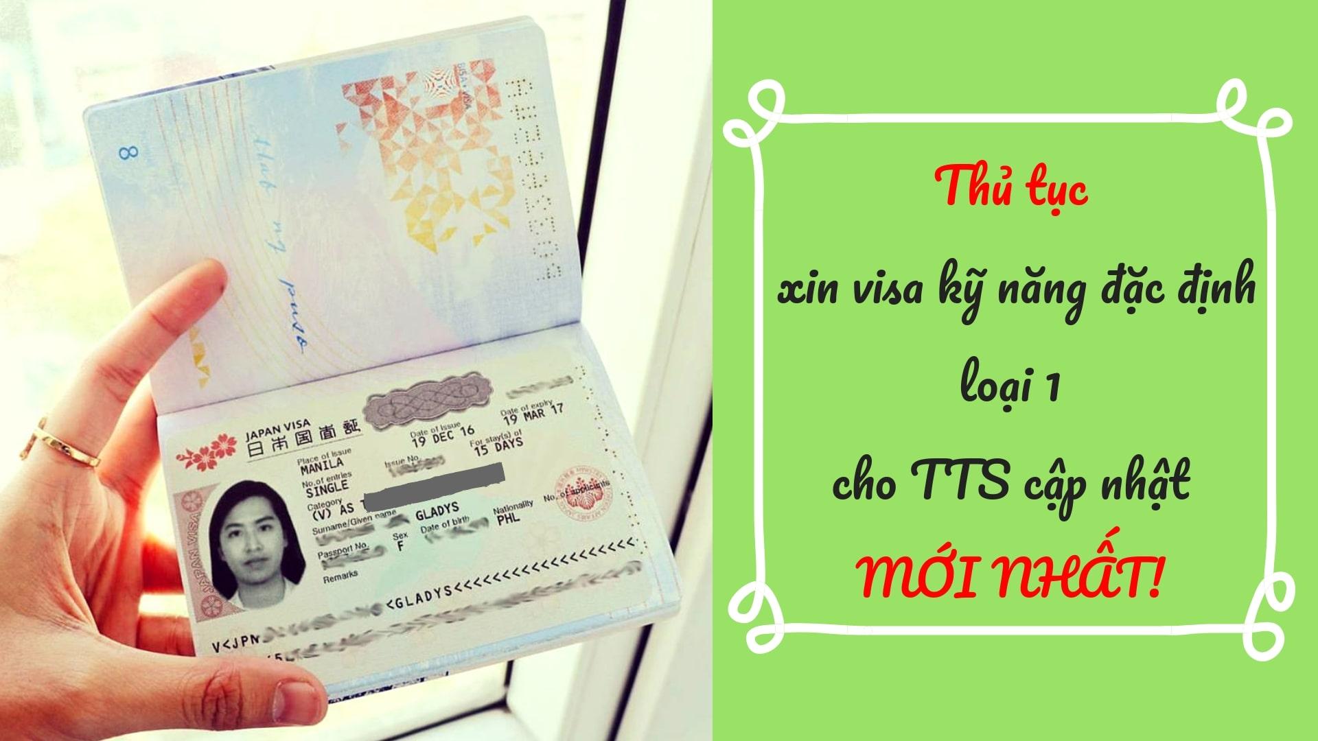 TOP đơn hàng visa kỹ năng đặc định