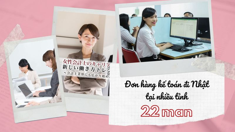 Tuyển gấp 30 kế toán đi Nhật lương 2 triệu/ngày tại nhiều tỉnh ở Nhật