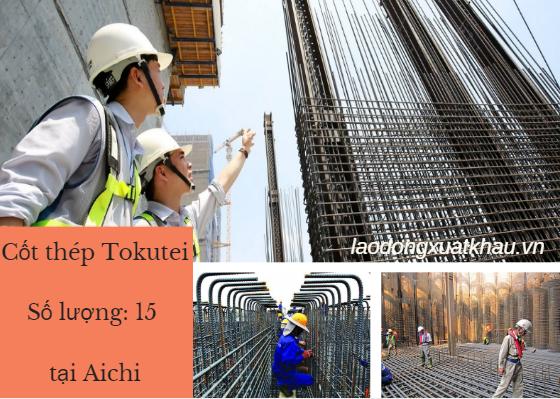 Đơn hàng visa Đặc định CỐT THÉP lương 25 MAN/ tháng làm việc tại Aichi